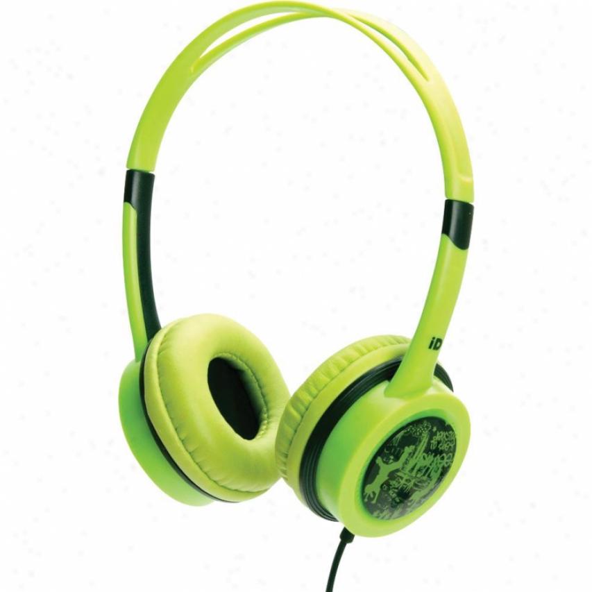 Idance Free10 Headphones - Green With Black Trim