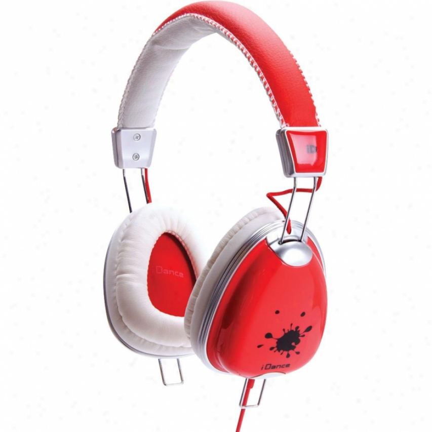 Idance Funky200 Headphones - Red And White