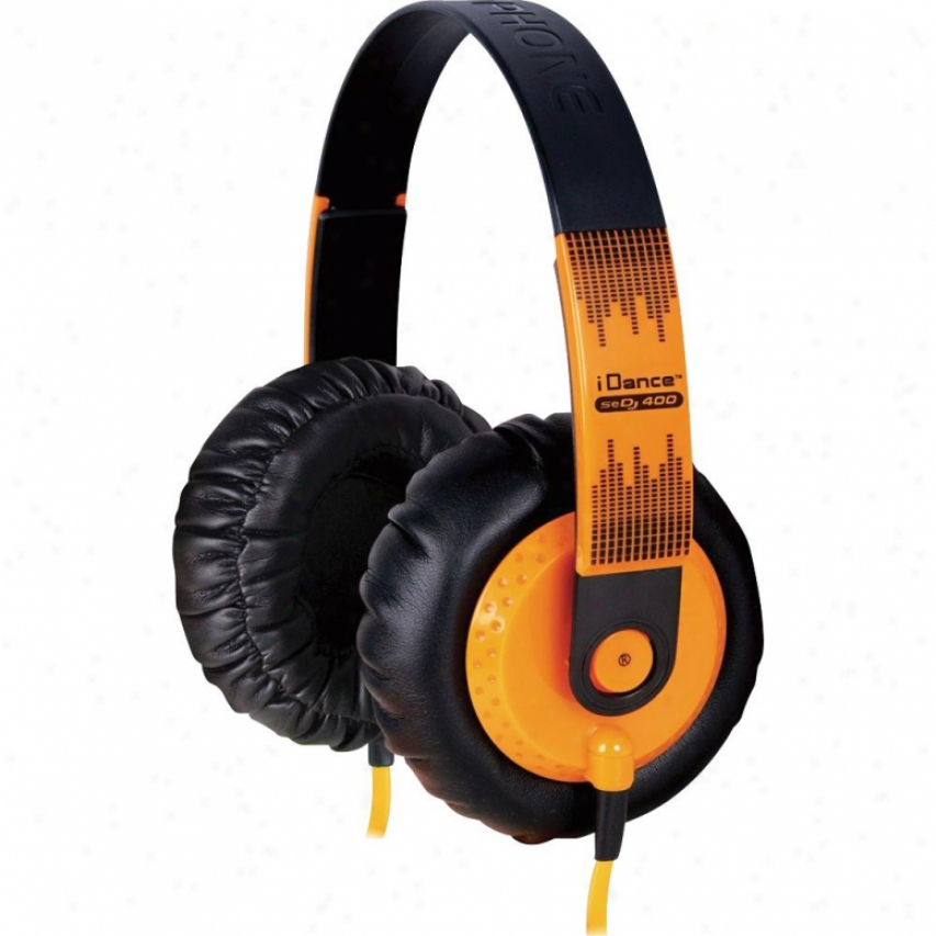 Idance Sedj400 Super Dj Headphones - Orange / Black