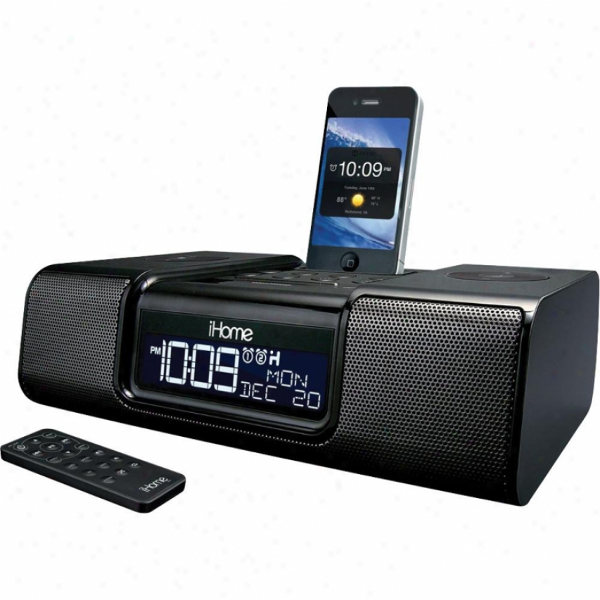 Ihome Ia9 App Enhanced Dual Alarm Clock Radio - Black
