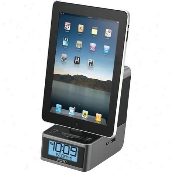 Ihome Id37 Dual Alarm Stereo Clock Radio W/ Fm Preset Station Memory