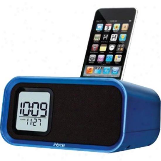 Ihome Ih22 Alarm Clock Speaker Order For Ipod - Blue Trranalucent