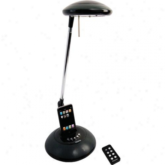 Ihome Ihl31 Black Desk Lamp With Ipod Dock And Speakers