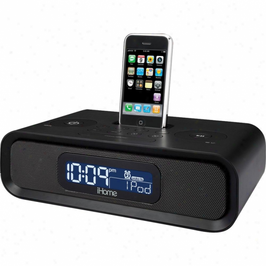 Ihome Ip97 Am/fm Dual Alarum Clock Radio For Iphone And Ipod - Black