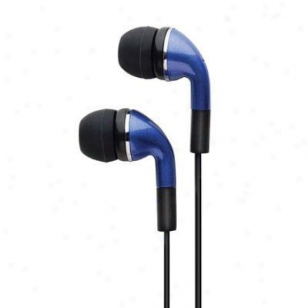 Ihome Noise Isolating Earbuds Blue