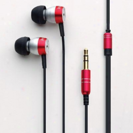 Ihome Noise Isolating Earbuds Red