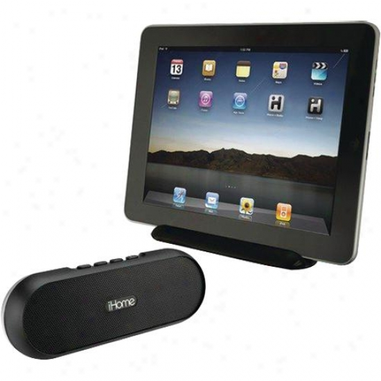 Ihome Rechargeable Portable Bluetooth Speaker System Idm12 - Black