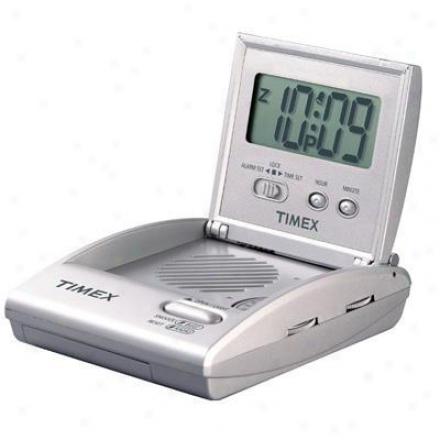 Ihome Travel Alarm Clock Radio Silv