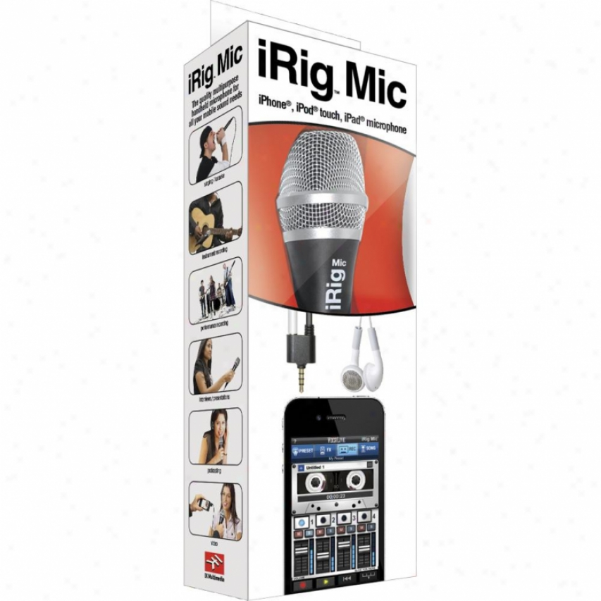 Ik Multimedia Irig Microphone For Iphone, I;od Touch And Ipad Irigmic