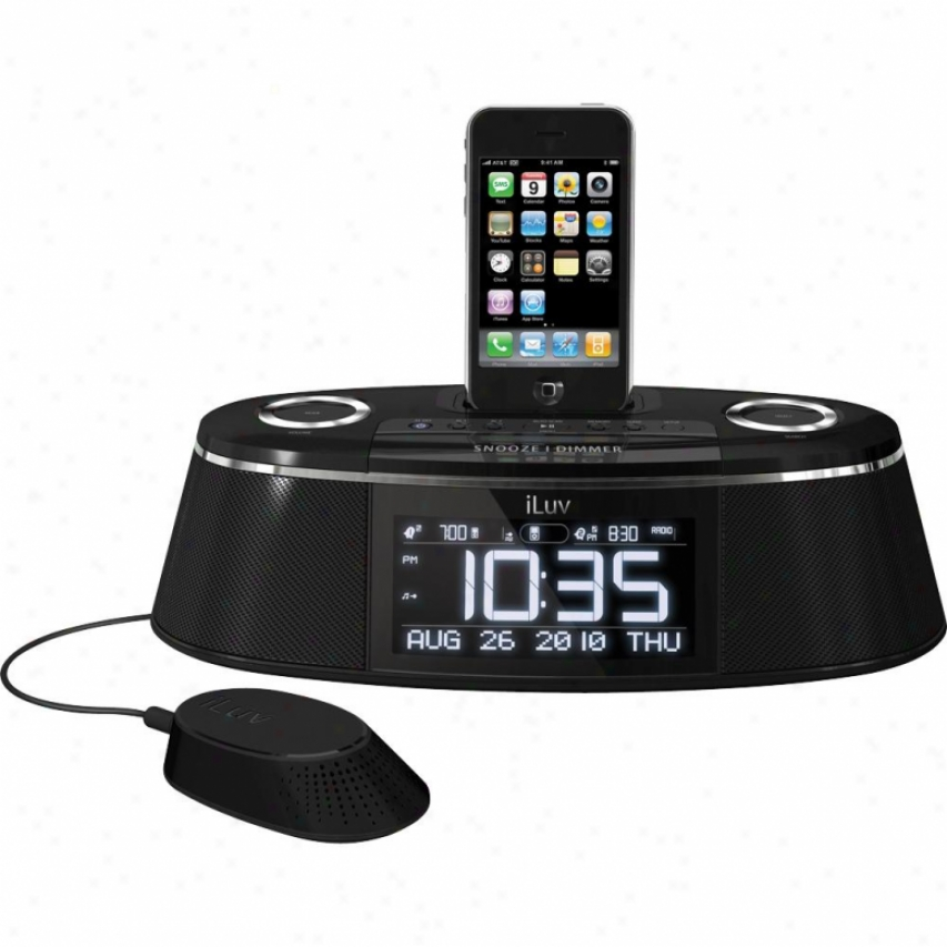Iluv Imm178 Dual Alarm-clock Radio With Iphone/ipod Curtail