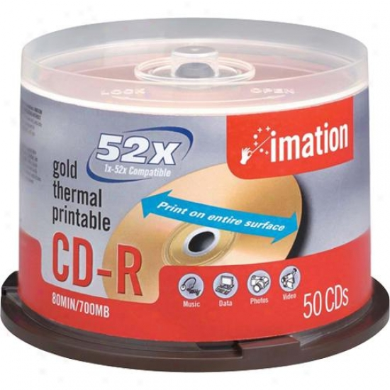 Imation Cd-r 52x 50-pack Spindle - 17301