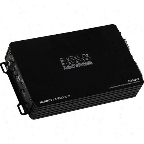 Impact 2000 Watts, 2-channel Mosfet Car Power Amplifier