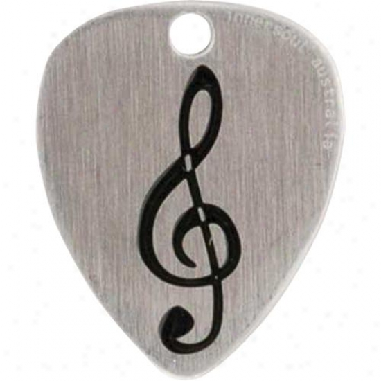 Innersoul Gp11bk Clef Sketch Guitar Pick Pendant