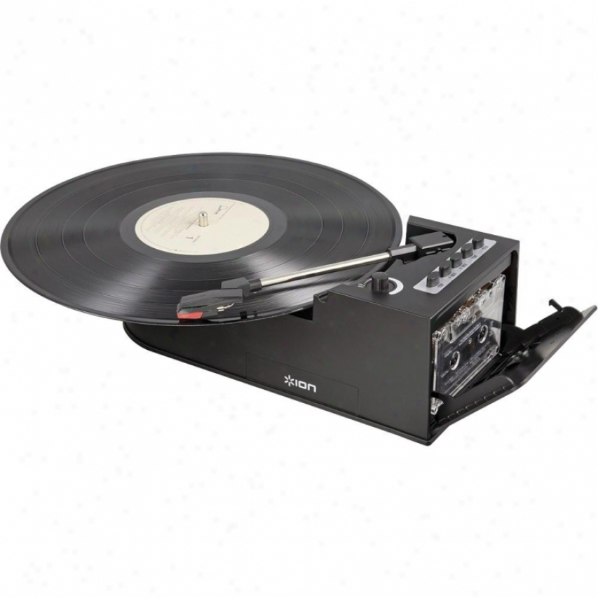 Ion Duo Deck Ultra-portable Usb Turntable With Cassette Deck