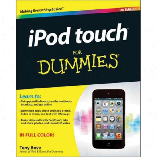 Ipod Touch For Dummies Book - 3rd Edition