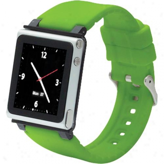 Iwatchz Watchband Case For Ipod Nano (6th Generation) - Green