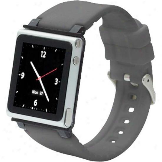 Iwachz Watchband Strap Case For Ipod Nano (6th Generation) - Grey