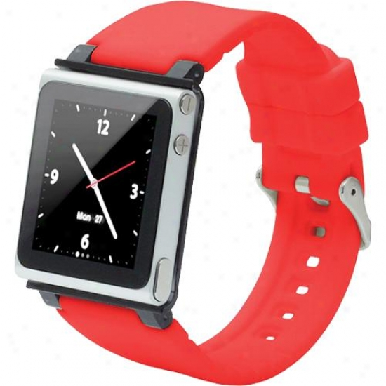 Iwatchz Watchband Strap Case For Ipod Nano (6th Generation) - Red