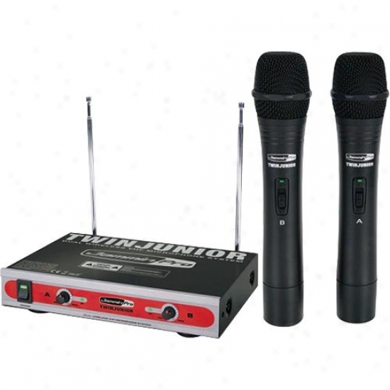 Jammin Pro Dual Vhf Wireless Microphone System