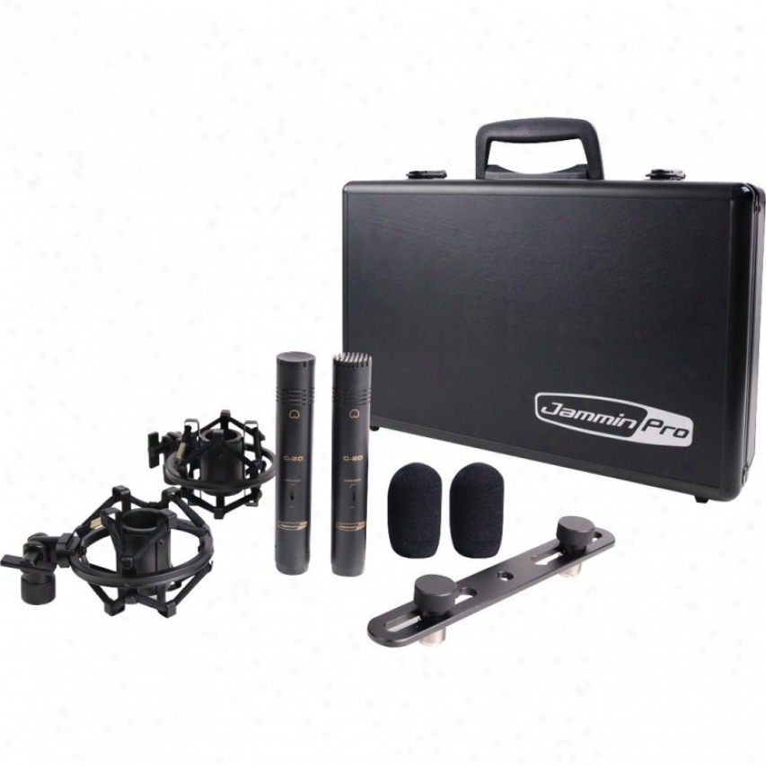 Jammin Pro Jamminpro C-20 2 Matched Studio Condenser Microphones