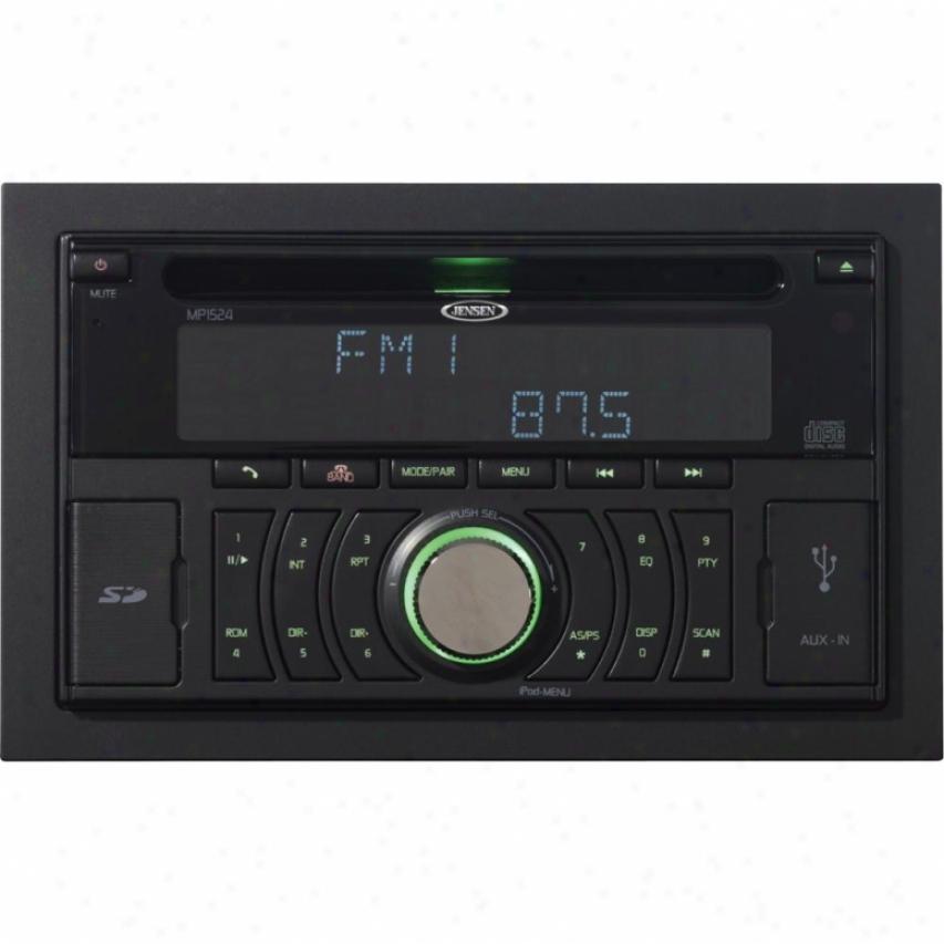 Jensen Mp1524 2-din Bluetooth/cd/mp3/wma Car Receiver