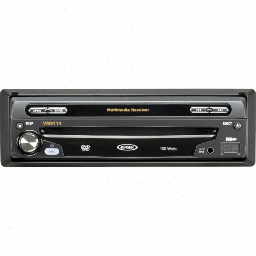 """Jensen Vm9144 1-din 7"""" Widescreen Lcd Multimedia Car Receiver"""