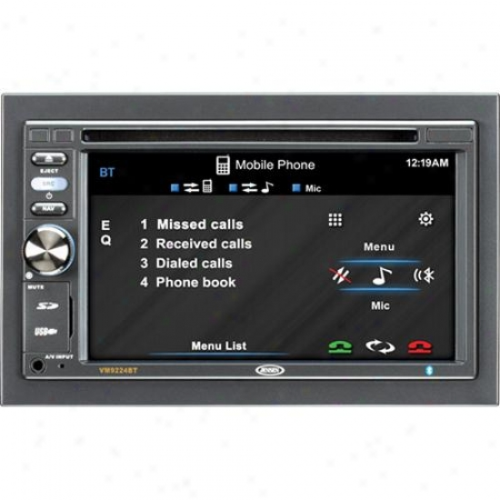 Jensen Vm9224bt 2din 6.2-nch Widescreen Lcd Car Multimedia Video Receiver