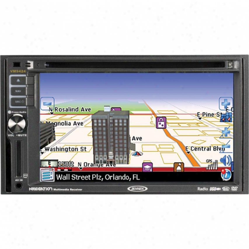 Jensen Vm9424bt 2-din 6.2-inch Touchscreen Multimedia Receiver Attending Navigation