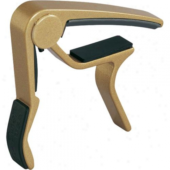 Jim Dunlop 83cg Acoustic Curved Trigger Capo - Gold Finish