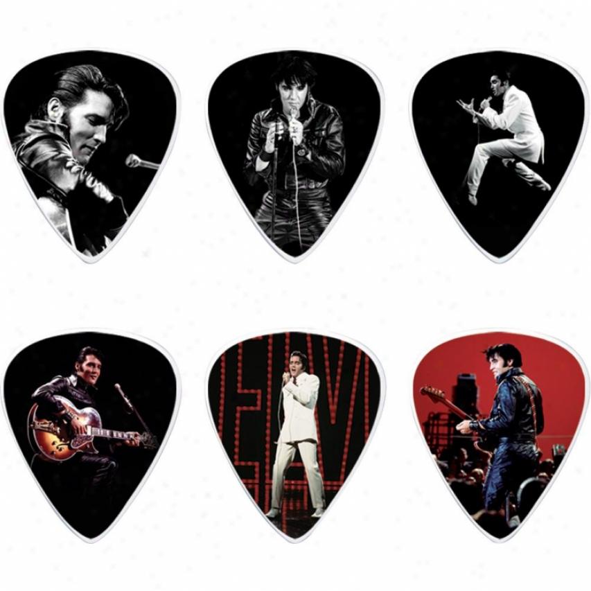 Jim Dunlop Elvis Presley '68 Specific Tin - 6 Picks - Eppt02