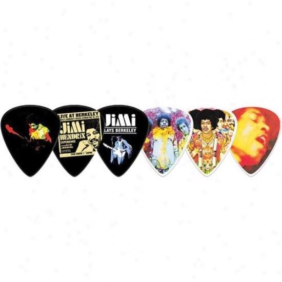 Jim Dunlop Jimi Hendrix Band Of Gypsys Collector's Tin - 12 Picks Per Tin