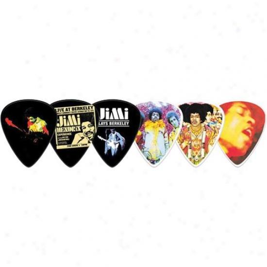 Jim Dunlop Jimi Hendrix Bold As Love Collector's Tin - 12 Picks - Jh-pt02m