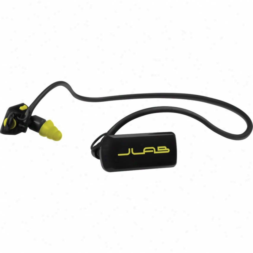 Jlab Audio Go Waterproof Mp3 Player Earphones - 4gb Go4gbbyret- Black/yellow