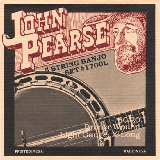 John Pearse Strings 1700l Light Banjo Strings