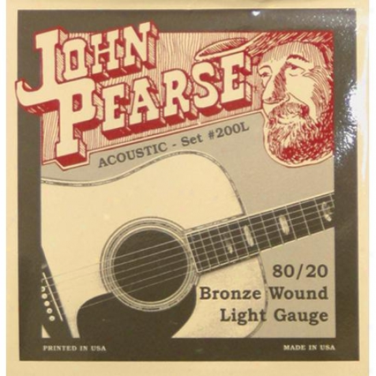 John Pearse Strings 200l Light Acoustic Guitar Strings