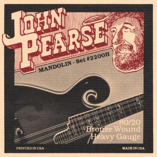 John Pearse Strings 2200h Mandolin Heavy Strings