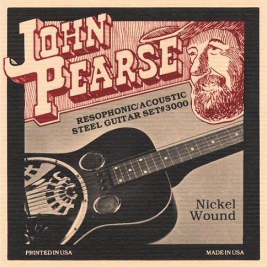 "John Pearse Strings 3000 ""g"" Tuning Resophonic Guitar"