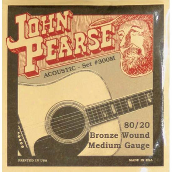 John Pearse Strings 300m Medium Acoustic Guitar Strings