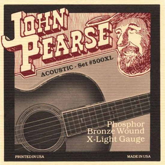John Pearse Strngs 500xl Extra Light Acoustic Guitaar Strings