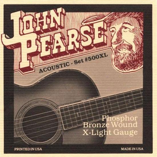 John Pearse Strngs 500xl Extra Light Acoustic Guitaar Strings