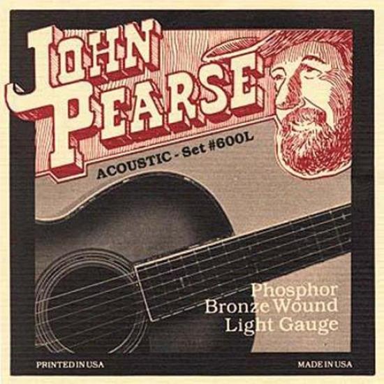 John Pearse Strings 600l Light Acoustic Guitar Strings