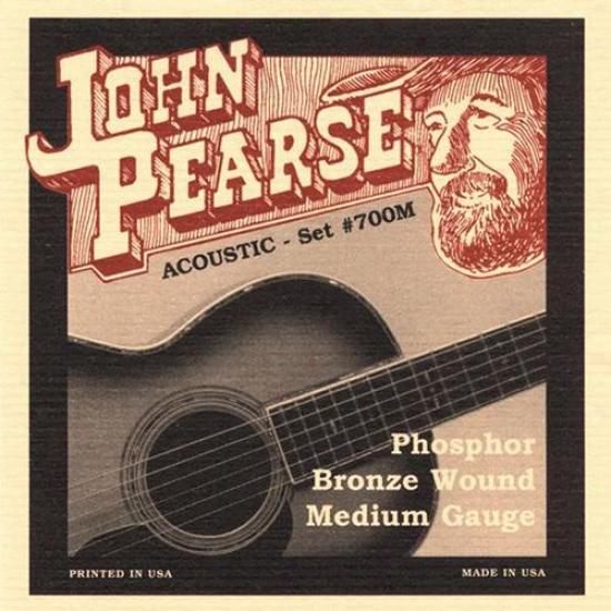 John Pearse Strings 700m Medium Acoustic Guitar Strings