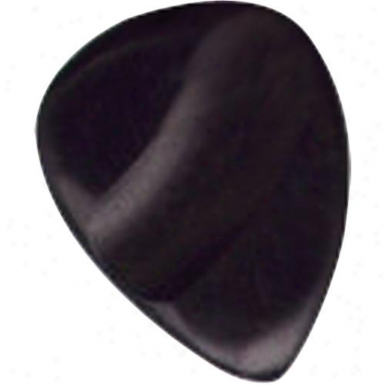 John Pearse Strings Ebony Flat Picks - Bag Of 10