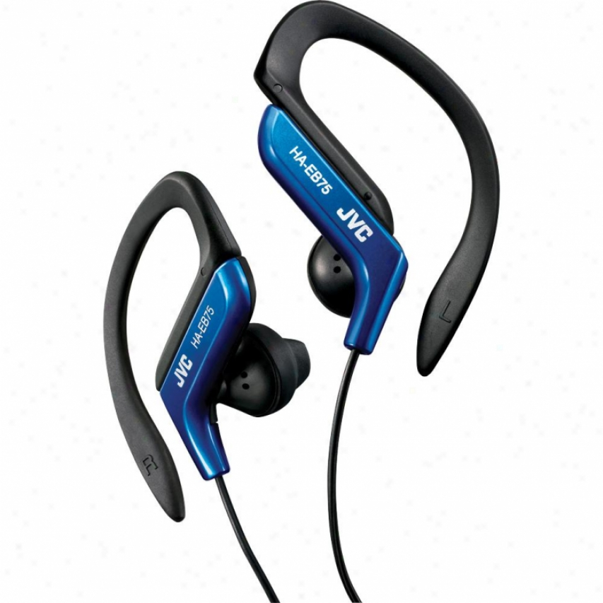 Jvc Ha-eb75 Sports Ear Clip Headphones - Blue