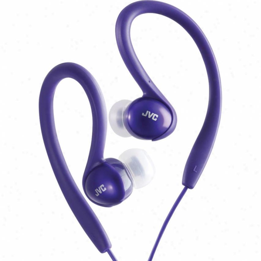 Jvc Innerear Spring-clasp Headphone Violet