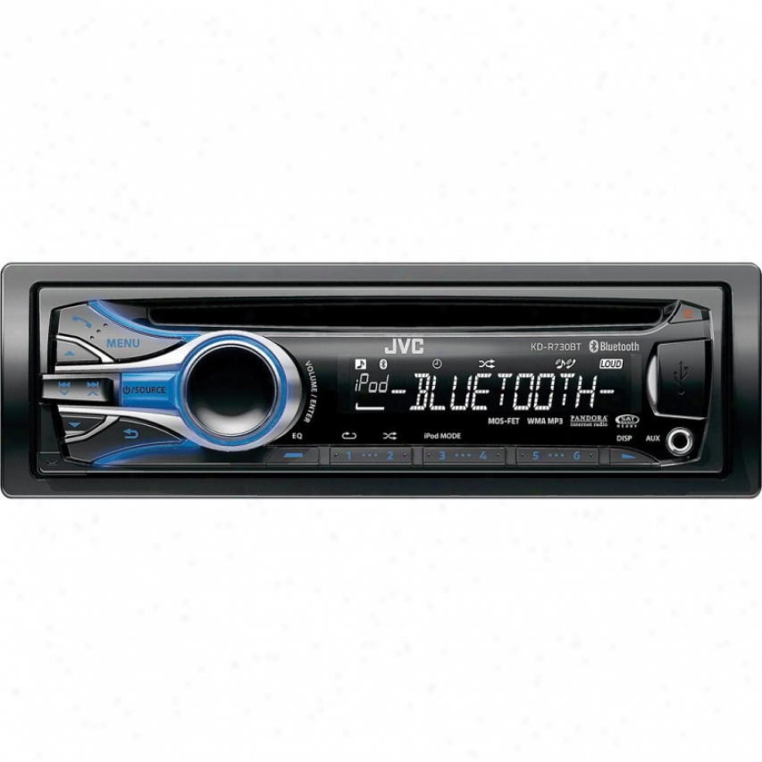 Jvc Kd-r730bt Am/fm/cd/mp3 Car Receiver With Bluetooth & Dual Usb Ports