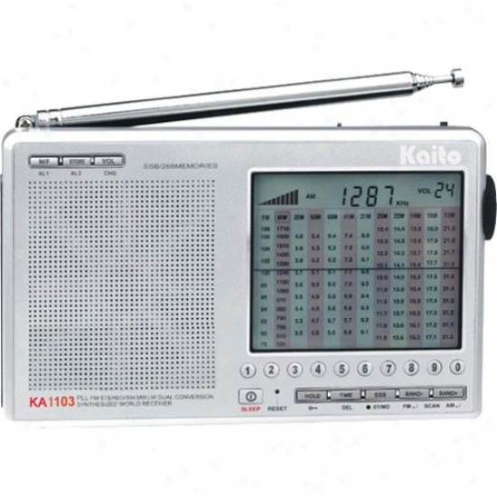 Kaito Electronics Inc. Ka1103 Digital Sw/am/fm Ssb Short Wave Radio - Silver