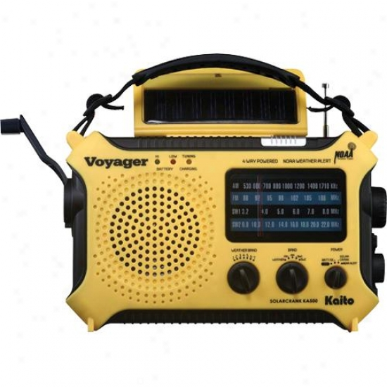 Kaito Electronics Inc. Ka500yel Voyager Emergency Radio- Yellow