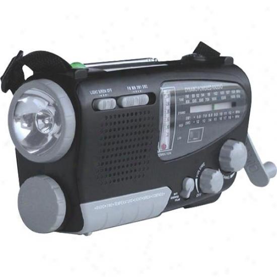 Kaito Electronics Inc. Ka888 Solar/dynamo Emergency Radio With Flashlight