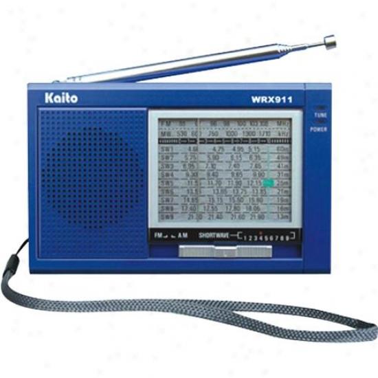 Kaito Electronics Inc. Wrx911blue Analog Am/fm/sw World Receiver - Blue